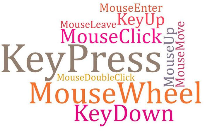 Eventi del Mouse e della tastiera